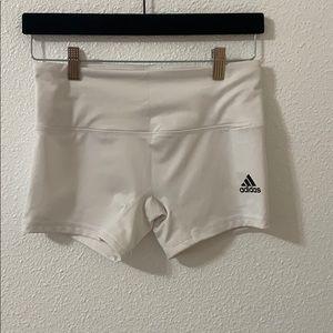 White 4 inch adidas shorts